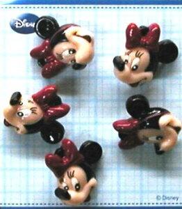 キャラクター ボタン ミニーマウス ( 型抜き ) ( キャラクター ボタン チルドボタン チャイルド ボタン ぼたん 釦 飾り アクセサリー 可愛い かわいい 子供 こども 手芸 ) 【メール便 ( ゆ