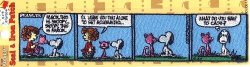 キャラクター 刺しゅうワッペン・スヌーピー(コミック・CAT)( キャラクターワッペン アップリケ アイロン 刺繍 かわいい おしゃれ マーク キッズ 子供 こども 男の子 女の子 入園 入学 )