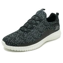 SKECHERS ELITE FLEX MUZZIN black&white mesh/trim(黑色&白網絲/修剪)52641-BKW 18SS