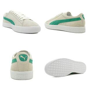 スニーカープーマPUMAスウェード90681ホワイト/グリーンメンズレディースシューズ靴18FA