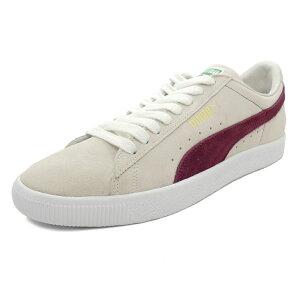 スニーカープーマPUMAスウェード90681ホワイト/ポメグラネイトメンズレディースシューズ靴18FA