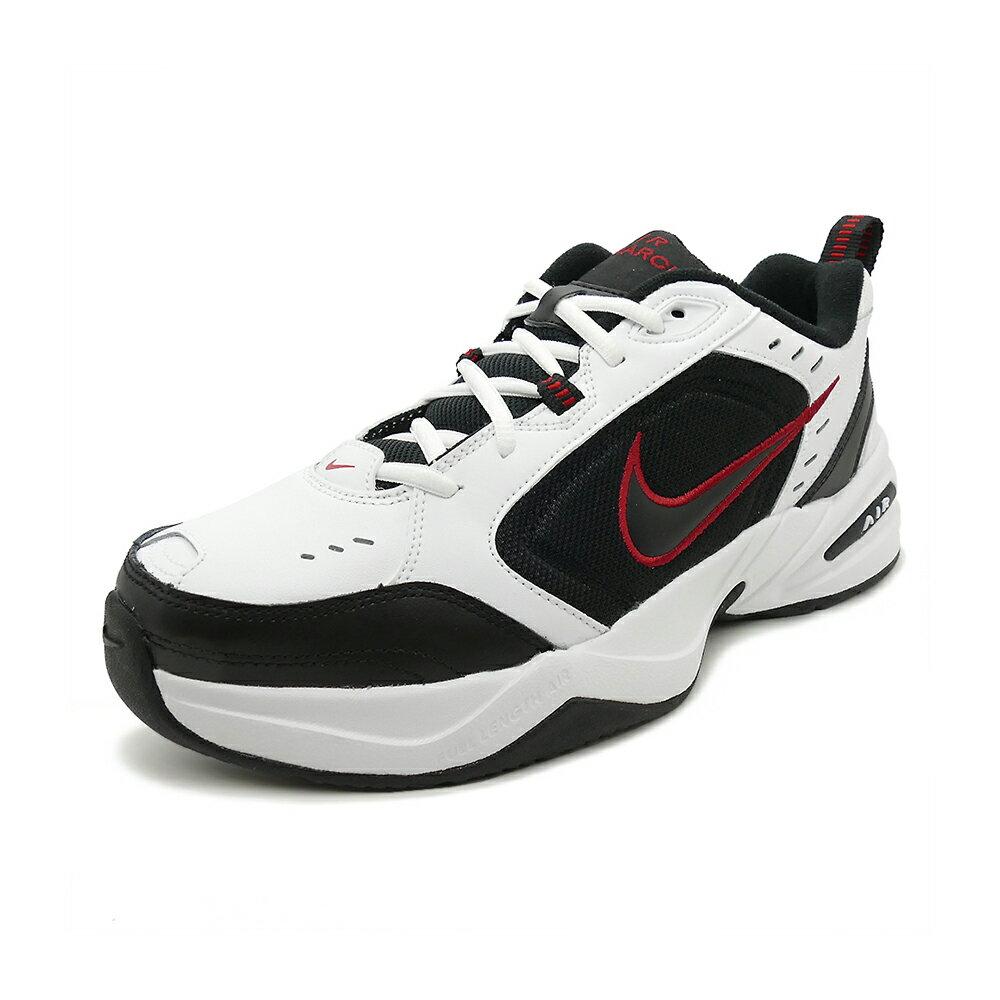 スニーカー ナイキ NIKE エアモナーク4 ホワイト/ブラック/バーシティレッド メンズ レディース シューズ 靴 18HO