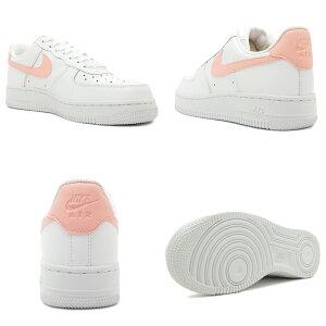 スニーカーナイキNIKEウィメンズエアフォース107ホワイト/ピンクメンズレディースシューズ靴18FA