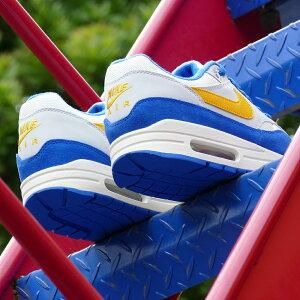 スニーカーナイキNIKEエアマックス1セイル/ブルー/イエローメンズレディースシューズ靴18FA