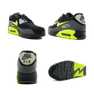 スニーカーナイキNIKEエアマックス90エッセンシャルブラック/ボルトメンズレディースシューズ靴18HO