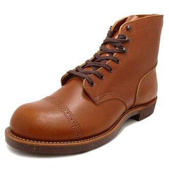 RED WING红翅膀IRON RANGE / MUNSON铁头球棒范围Mansson white ash白灰长筒皮靴13FW