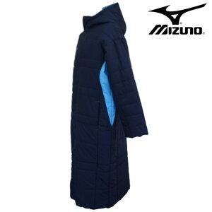 中綿ベンチコート(ユニセックス)【MIZUNO】ミズノトレーニングウェアベンチコート18FW(32JE8663)
