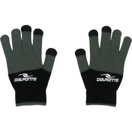スマホ対応ニットグローブ【Dalponte】ダウポンチ●サッカーフットサルニットグローブ手袋18FW(DPZ0254)