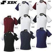 2ボタンベースボールTシャツ【SSK】エスエスケイ●ベースボールシャツ(BT2240)