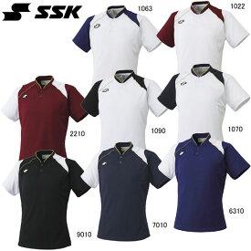 2ボタンベースボールTシャツ【SSK】 エスエスケイ ●ベースボールシャツ (BT2240)*65