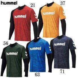 レイヤードプラクティスシャツセット【hummel】ヒュンメルプラクティスシャツ19FW (HAP7116)*62