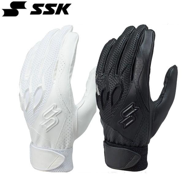 プロエッジ 高校野球対応シングルベルト手袋(両手)【SSK】エスエスケイ バッティングテブクロ16SS(EBG3000W)*25