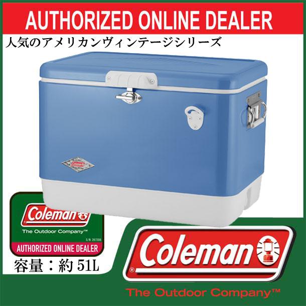 54QT 60TH アニバーサリースチールベルト(R)クーラー(ヴィンテージブルー)【coleman】コールマン クーラーボックス17SS(3000004937)*00