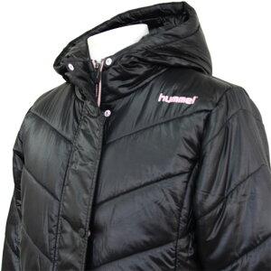 ピットスポーツ限定レディースパデッドロングコート【hummel】ヒュンメル×ピットスポーツコラボ商品中綿ベンチコート(HLW8081KM)