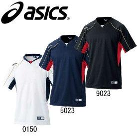 ベースボールTシャツ【asics】アシックス ベースボールシャツ 野球ウエア(BAD009)14SS*27