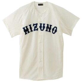 『ミズノプロ』メッシュシャツ(オープン型)(野球)(48アイボリー)【MIZUNO】ミズノ野球 ウエア ユニフォームシャツ(52MW17348)*25