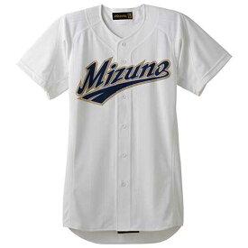 『ミズノプロ』シャツ/オープンタイプ(01ホワイト)【MIZUNO】ミズノ野球 ウエア ユニフォームシャツ(12jc4f0101)*66