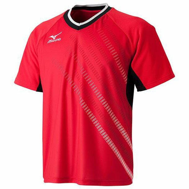 レプリカゲームシャツ(2015年日本代表モデル)(62レッド×ブラック)【MIZUNO】ミズノ卓球 ウエア(82JA500562)*25