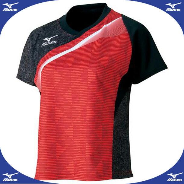 ゲームシャツ(レディース)(2016年卓球日本代表レプリカ)【MIZUNO】ミズノ卓球 ウエア 全日本モデル(82JA6701)*44