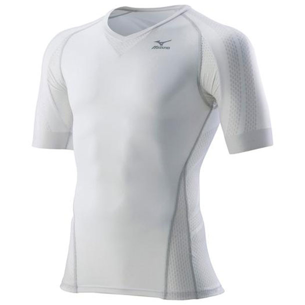 『BG7000T』バイオギアシャツ(半袖)(メンズ)【MIZUNO】ミズノランニング ウエア 体幹サポートウエア BGシリーズ(K2MJ7A61)*30