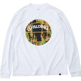 L S Tシャツ-マーブルボール【SPALDING】スポルディングバスケットナガソデTシャツ(smt191210-2072)*00