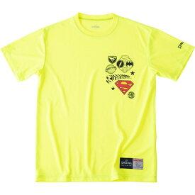 Tシャツースーパーマンエンブレムspalding(スポルディング)バスケットハンソデTシャツ(smt19053x-yel)*11