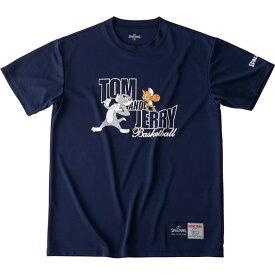 Tシャツートム&ジェリーspalding(スポルディング)バスケットハンソデTシャツ(smt190580-nvy)*11