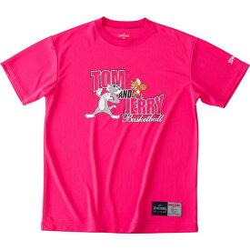 Tシャツートム&ジェリーspalding(スポルディング)バスケットハンソデTシャツ(smt190580-pnk)*11