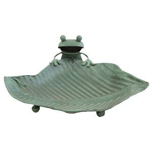 [即出荷] [メタルフロッグトレー ] カエル 置物 雑貨 小物入れ ブリキ 蛙 トレー トレイ ガーデン キャッシュトレイ オブジェ オーナメント ディスプレイ 玄関 美容院 カフェ 庭 店舗 小物 か