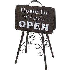 [即出荷] 看板 オープン オープンスタンド オープン&クローズスタンド 7052 村田屋産業 ウェルカムボード アイアン 店舗用 両面 サインボード クローズ ウェルカムプレート アンティーク 案