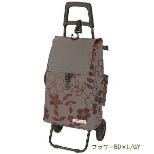 [即出荷] [フラワーBD×LGY] ショッピングカート 折りたたみ 424452 レップ スタンダードタイプ おしゃれ 保冷 保温 クーラーバッグ キャリーカート キャスター付き ショッピングバッグ コンパク