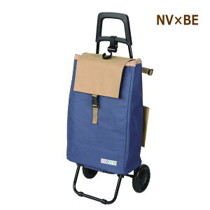 [即出荷] [NV×BE] ショッピングカート 折りたたみ 496930 バイカラー レップ レギュラーサイズ おしゃれ 保冷 保温 クーラーバッグ キャリーバッグ キャスター付き ショッピングバッグ 畳める