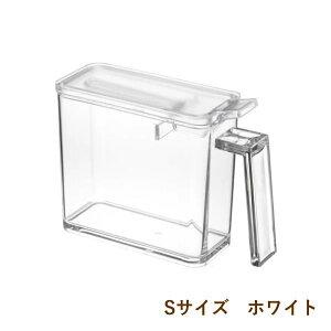 [即出荷][ホワイト] 調味料ストッカーS 調味料入れ 容器 保存容器 02867 調味料ボトル 調味料ケース おしゃれ シンプル 塩 砂糖 小麦粉 計量 スプーン 小さじ 収納 保存 キッチン 料理 調理 タワ