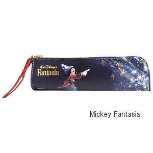[即出荷] [Mickey Fantasia] ペンケース おしゃれ 革 ディズニー ペンケース FA-29 ディバージョン レディース 本革 かわいい 大人 スリム ペンホルダー 筆箱 筆入れ レザー キャラクター ミッキー