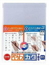 【ソニック】透明 やわカタ下敷き B5 裏表で書き心地が切り替 SK-4081-T【学童用品】【下敷き】【日本製】【したじき】【学校】