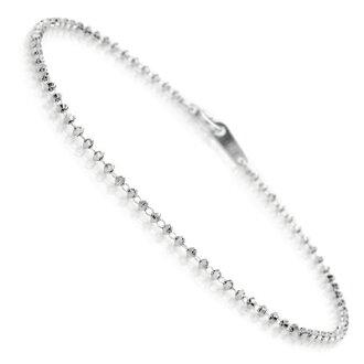 Semplice 1.65 m m 钻石切割球镜 K18 白色黄金 WG 手镯 (珠宝 スキンジュ) 10P30Nov13