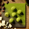 Uji Matcha Chocolat Daifuku ( 8 pieces ) concentrated 4万 box sold wrapped in melted white chocolate melts in your mouth mochi!