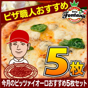 ピザ セット【送料無料】【冷凍ピザ】 『ピッツァイオーロおすすめ5枚セット』☆ 当店のピッツァイオーロ(ピザ職人)自信作を集めた珠玉のセット!〔 送料込み pizza set 冷凍 〕