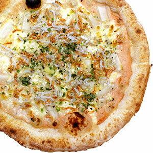 冷凍ピザ『しらすと干しエビの餅明太ピッツァ』 お試しピザセットと同梱で送料無料!石窯薪木で焼きあげるピザ職人手作りの石窯ナポリピッツァです!訳ありじゃないのに安い!宅配ピザよりピザ通販![ピザ pizza 冷凍]
