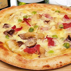 冷凍ピザ『生ハムときのこのカルボナーラピッツァ』 お試しピザセットと同梱で送料無料!石窯薪木で焼きあげるピザ職人手作りの石窯ナポリピッツァです!宅配ピザよりピザ通販![ピザ pizza 冷凍]