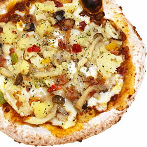 冷凍ピザ『3種のきのことベーコンポテトのデミグラミートソースピッツァ』 お試しピザセットと同梱で送料無料!石窯薪木で焼きあげるピザ職人手作りの石窯ナポリピッツァです!宅配ピザよりピザ通販![ピザ pizza 冷凍]