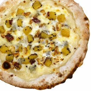 冷凍ピザ『さつまいもとクルミのゴルゴンゾーラピッツァ』 お試しピザセットと同梱で送料無料!石窯薪木で焼きあげるピザ職人手作りの石窯ナポリピッツァです!宅配ピザよりピザ通販![ピザ pizza 冷凍]
