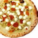 冷凍ピザ『モッツァレラの真珠とチェリートマトのジェノベーゼピッツァ』 お試しピザセットと同梱で送料無料!石窯薪木…