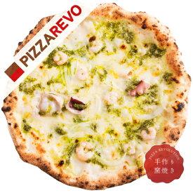 【佐川出荷専用カート】大人気のシーフードピザ!海鮮バジル【冷凍ピザ専門店】3種類の海の幸を乗せたジェノバソースピザ。海の恵みとバジルが絶妙にマッチ。【iR】