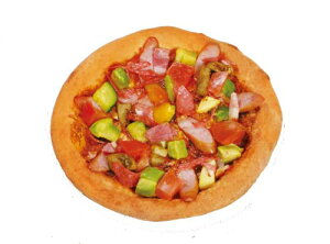 アボガドとあらびきウインナーピザ