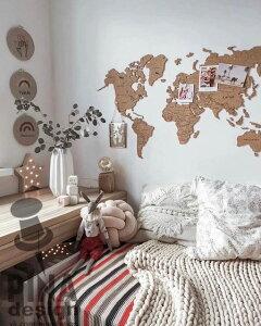 【送料無料】 コルク世界地図 世界地図 コルクボード ウォールデコ ウォールデコレーション 壁 インテリア雑貨 コルク 北欧調 インテリア お部屋作り 一人暮らし 置き写真 トレンド 壁 装飾