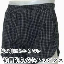 【お買い得 送料無料 尿漏れ 大きいサイズ】安心パンツ/吸水80cc トランクスM ブラック