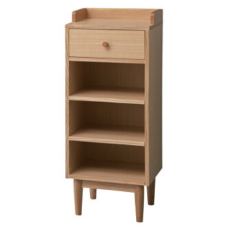 Chest side chest cabinet storage furniture living room drawer cabinets phone FAX flower ornament shelves shelf rack wooden wood natural plank Rakuten shop Global Market