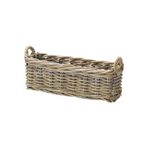 『かご』 籠 カゴ バスケット 店舗什器 小物入れ 小物収納 スリッパ入れ スリッパ立て スリッパラック おしゃれ ナチュラル シンプル かわいい 可愛い コボ 木製 編み スクエア 角型 縦長 ス