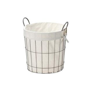 ワイヤーバスケット 収納かご 収納籠 収納カゴ ハンドルバスケット 整理カゴ キッチン収納 ワイヤーかご ランドリー収納 ランドリーバスケット 洗濯かご 丸型バスケット 洗濯カゴ ワイヤー